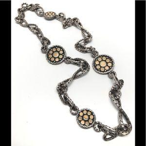 "John Hardy 18K/925 Reversible Sautoir Necklace 18"""